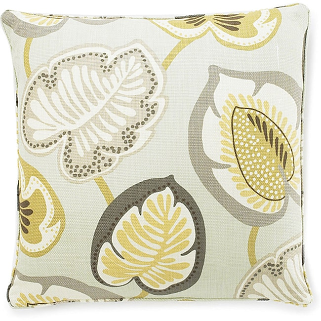 20 x 20-inch Hosta Lily Celedon Cotton Decorative Pillow