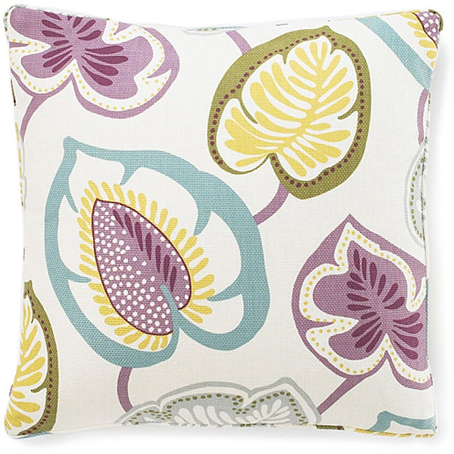 Hosta Lily Alabaster Cotton Decorative Pillow