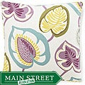 Hosta Lily Alabaster Cotton Decorative Pillow