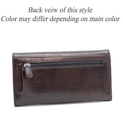 Dasein Faux Leather Flip-clasp Checkbook Wallet
