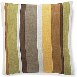 20 x 20-inch Hosta Stripes Celedon Cotton Decorative Pillow