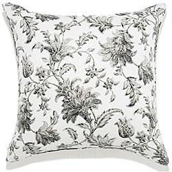 20 x 20-inch Liz Charcoal Outdoor Pillow