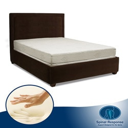 Spinal Response Aloe Gel Memory Foam 8-inch Queen-size Smooth Top Mattress