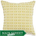 20 x 20-inch Mosaic Green Outdoor Pillow
