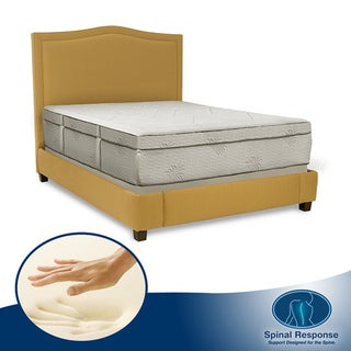 Spinal Response Aloe Gel Infused Memory Foam 15-inch Queen-size Mattress