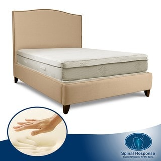 Spinal Response Aloe Gel Memory Foam 11-inch Queen-size Smooth Top Mattress