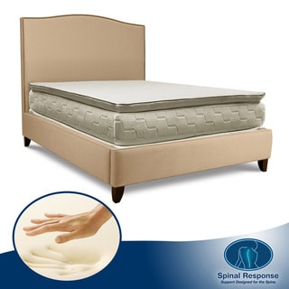 Spinal Response Aloe Gel Memory Foam 13-inch King-size Pillow Top Mattress