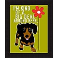 Ginger Oliphant 'Big Deal' Framed Print