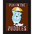 Ginger Oliphant 'Play in the Puddles' Framed Print