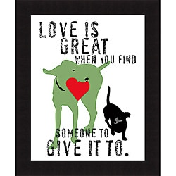 Ginger Oliphant 'Love Is Great' Framed Print