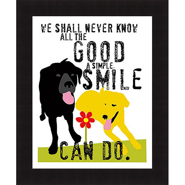 Ginger Oliphant 'The Good a Simple Smile Can Do' Framed Print