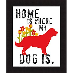 Ginger Oliphant 'Home Is Where My Dog Is' Framed Print