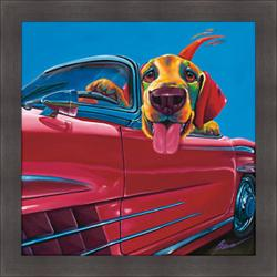 Ron Burns 'Dog About Town' Framed Print