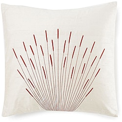 20 x 20-inch Branches Cream Silk Pillow