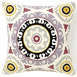 Suzani Henna Lilac Decorative Pillow