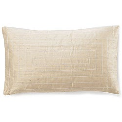 Pyramid Taupe Silk Decorative Pillow