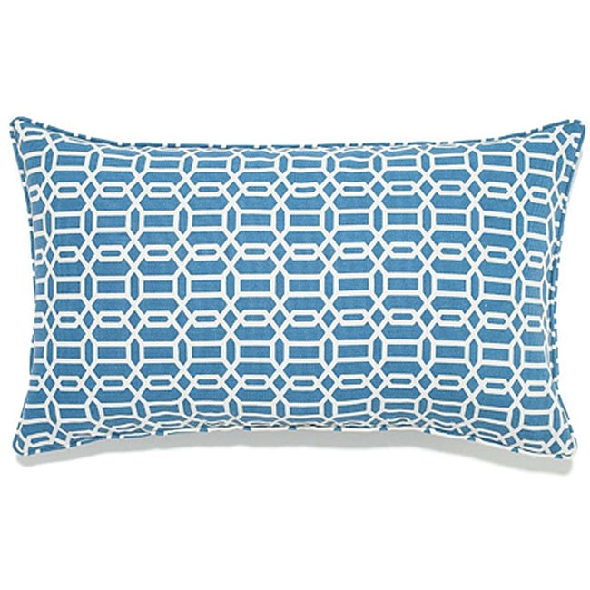 12 x 20-inch Mosaic Blue Outdoor Pillow