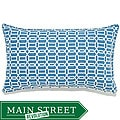 Mosaic Blue Outdoor Pillow