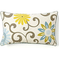 Ply Sky Rectangle Cotton Floral-print Decorative Pillow