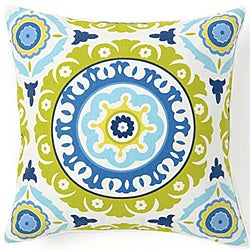 Suzani Henna Cotton Square 18-inch Decorative Pillow