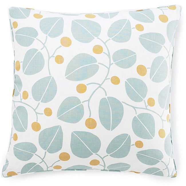 Jiti Bethe Leaves Aqua Decorative Down Pillow