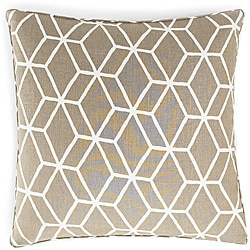 Bethe Tile Light Brown Linen Decorative Pillow