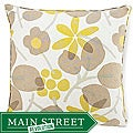 Bethe Leaves Light Brown Decorative Pillow