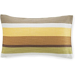Hosta Stripes Celedon Cotton Decorative Pillow