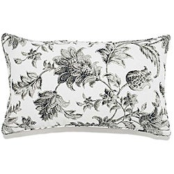12 x 20-inch Liz Charcoal Outdoor Pillow