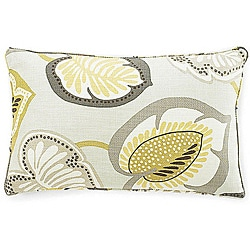 12 x 20-inch Hosta Lily Celedon Cotton Decorative Pillow