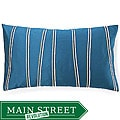 Diagonal Blue Decorative Pillow