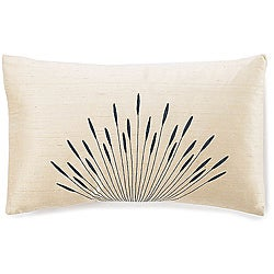 12 x 20-inch Branches Cream Silk Pillow