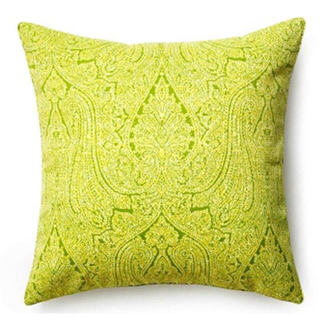 Paisley Green Outdoor Pillow