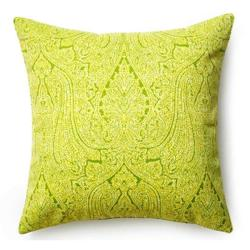 Paisley Green Outdoor Pillow