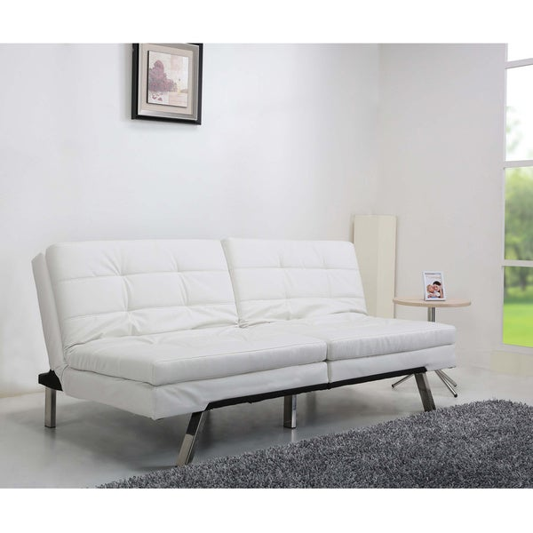 Memphis white double cushion sofa bed 14026323 for White double divan bed