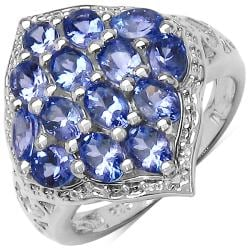 Malaika Sterling Silver Genuine Tanzanite Ring (1 3/10ct TGW)