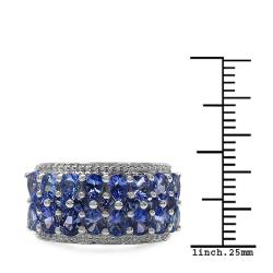 Malaika Sterling Silver Genuine Tanzanite Ring (2 3/10ct TGW)