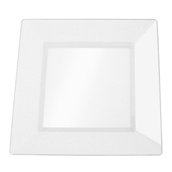 SilverEdge Clear 10.75-inch Square Plastic Plates (Set of 10)