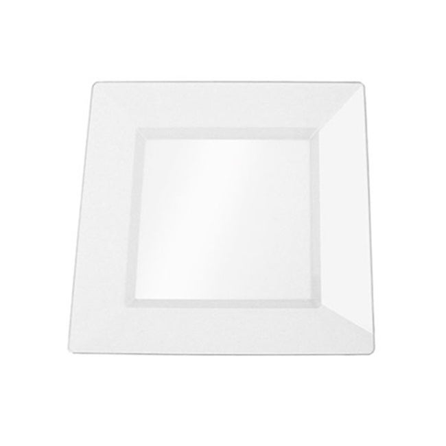 SilverEdge Clear 6.5-inch Square Plastic Plates (Set of 10)