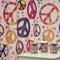 'Girly Peace Sign' 16-piece Bath Accessory Set