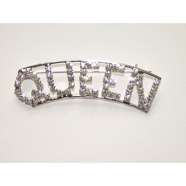 Detti Originals Silvertone 'QUEEN' Crystal Pin