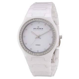 Skagen Women's White Ceramic Crystal Quartz Watch