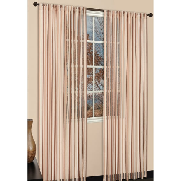 Picadilly Sand 84-inch Curtain Panel Pair