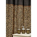 'Leopard Brown' shower Curtain and Ceramic Bath Accessory 16-piece Set