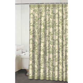 Leaves Beige/Green Shower Curtain