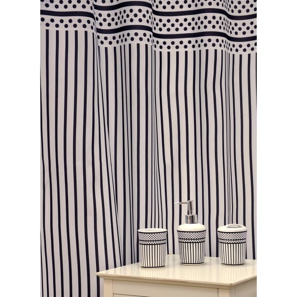 'Polka Dots' Shower Curtain and Bath Accessory 16-piece Set