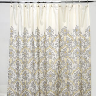 Bedazzled Grey-damask 100-percent Polyester Shower Curtain