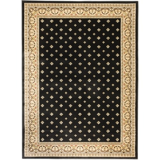 Hudson Terrace Black Area Rug (5'3 x 7'3)