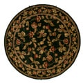 Transitional Floral Halle Ebony Area Rug (8' Round)