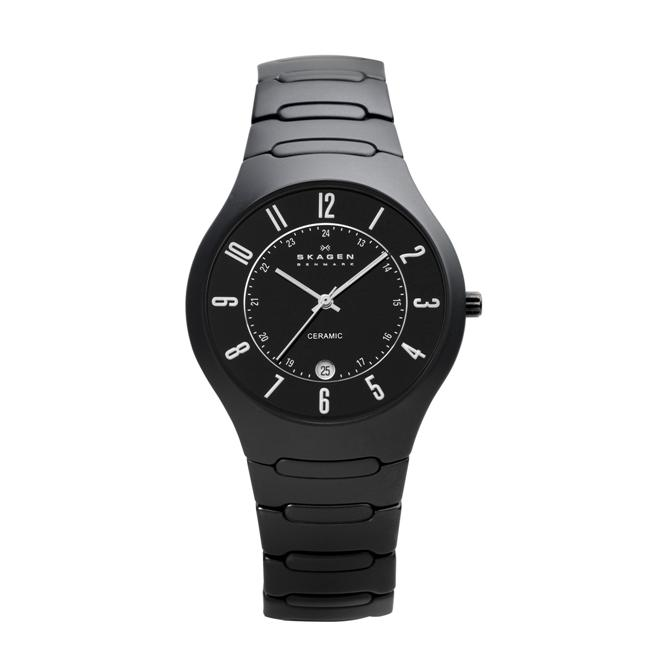Skagen Denmark Men's Black Ceramic Watch